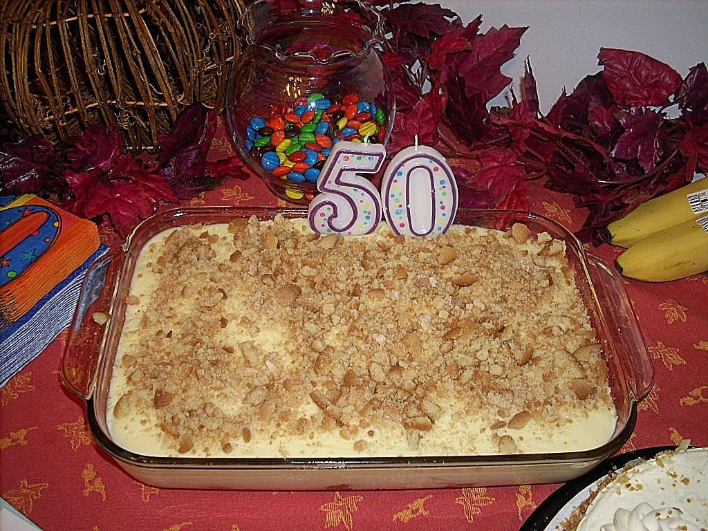 A FRIDGE FULL OF FOOD Happy 50th Birthday Gene Nannies Banana