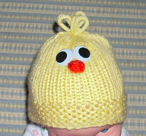 Easter Free Little Chick Hat Pattern Knitting For The Nicu