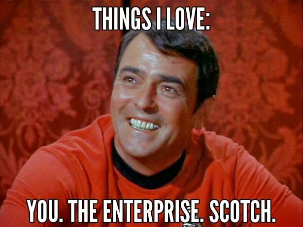 VD Star Trek scottie you the enterprise scotch