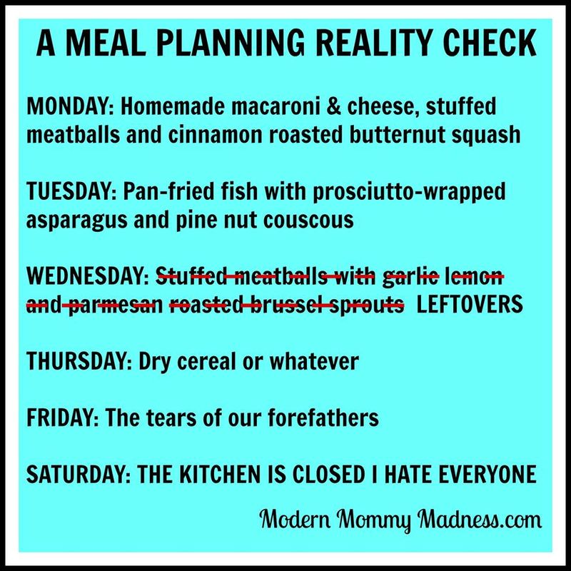Blog diet meal planning reality