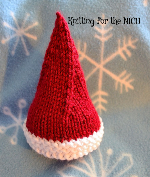 Free Pattern Elf On The Shelf Micro Preemie Christmas Hat