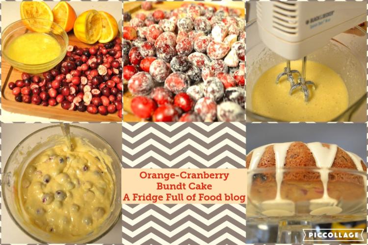 Orange Cranb Cake Collage
