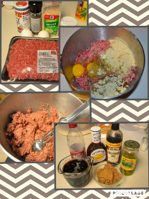 Making meatballs collage