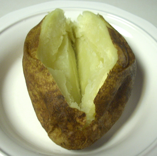 how to pre cook a baked potato in the microwave